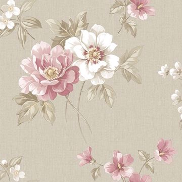 Picture of Keighley Pink Floral Wallpaper