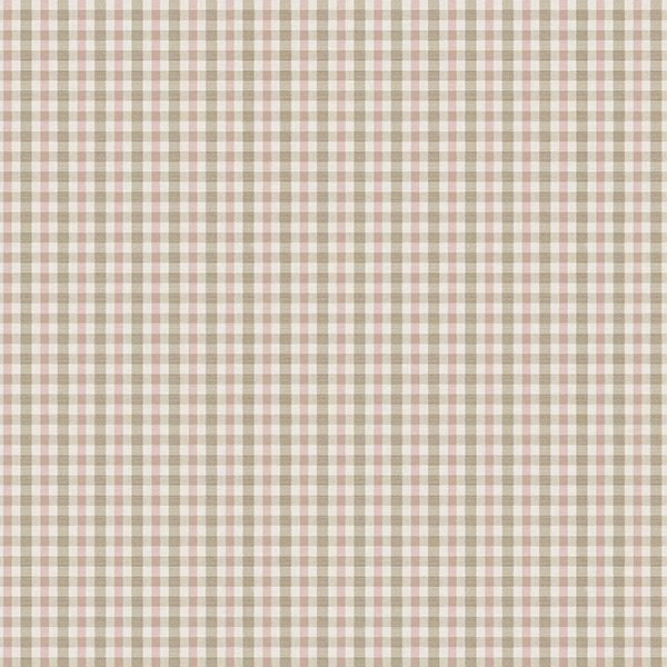 Picture of Roslin Pink Check Wallpaper
