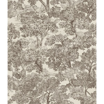 Picture of Blyth Brown Toile Wallpaper