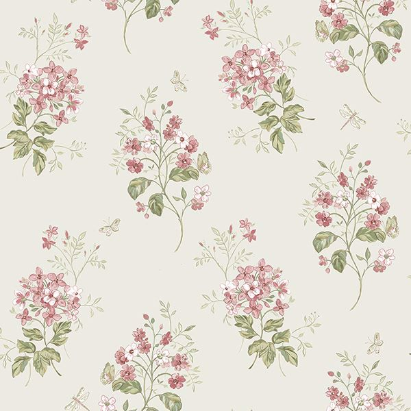 Picture of Beverly Pink Floral Wallpaper