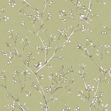 Picture of Tadley Sage Branch Wallpaper
