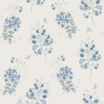 Picture of Beverly Blue Floral Wallpaper