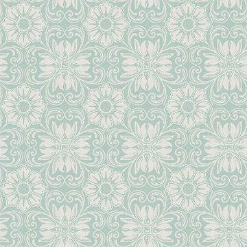 Picture of Hessle Aqua Floral Wallpaper