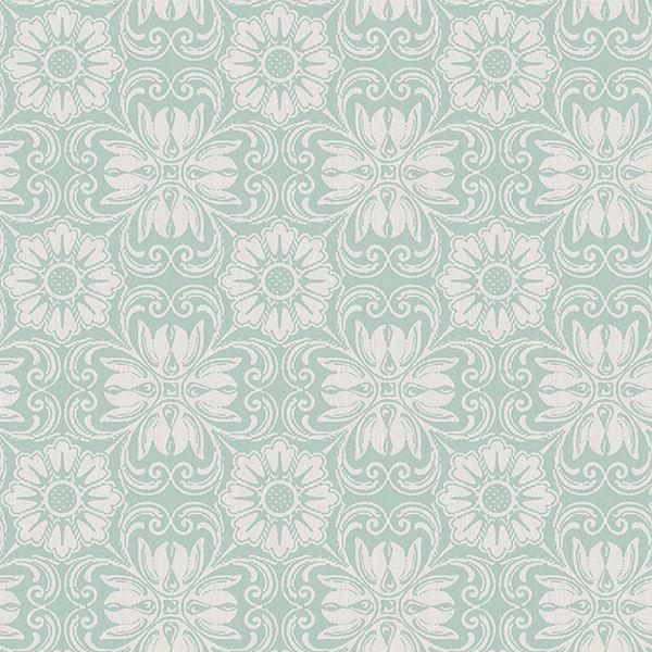 Picture of Hessle Aqua Floral Wallpaper