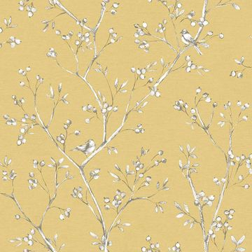 Picture of Tadley Yellow Branch Wallpaper