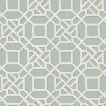 Picture of Adlington Turquoise Geometric Wallpaper