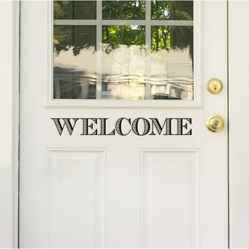 Picture of Welcome/See you Soon Door Decal
