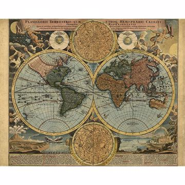 Picture of Traveler's Globe Wall Mural
