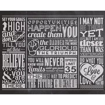 Picture of Chalk Quotes Wall Mural