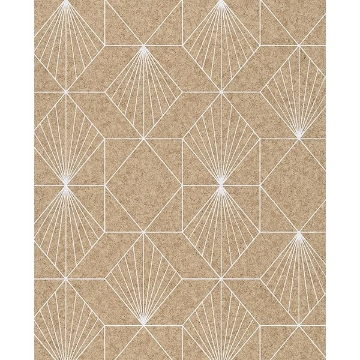 Picture of Halcyon Neutral Geometric Wallpaper
