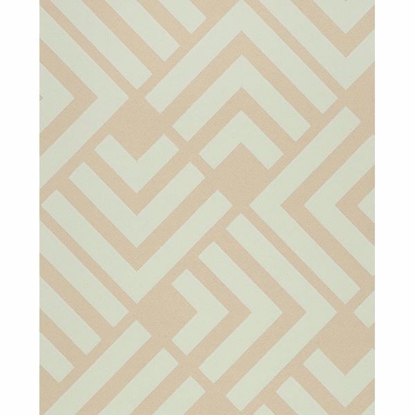 Picture of Zig Light Blue Geometric Wallpaper