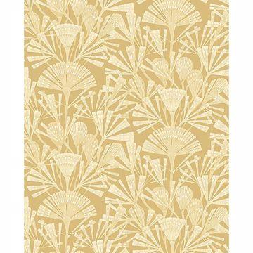 Picture of Zorah Mustard Botanical Wallpaper
