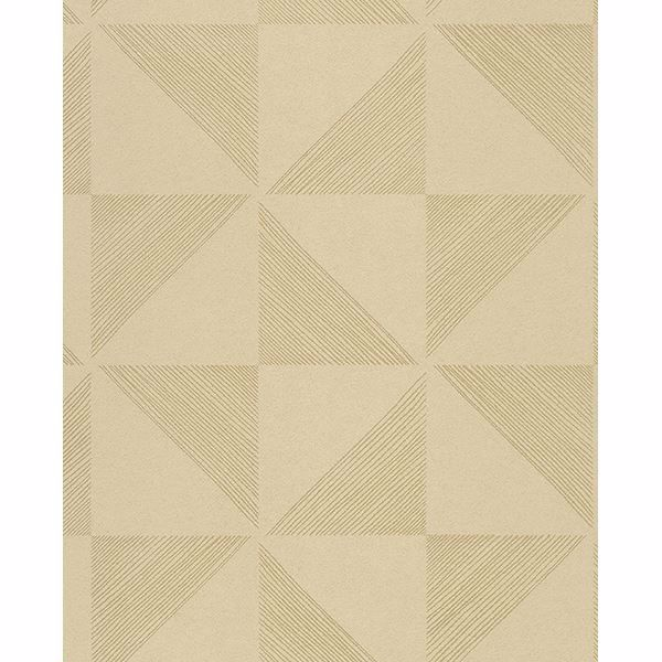 Picture of Mont Gold Geometric Wallpaper