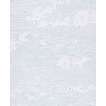 Picture of Palila Light Blue Cloud Wallpaper