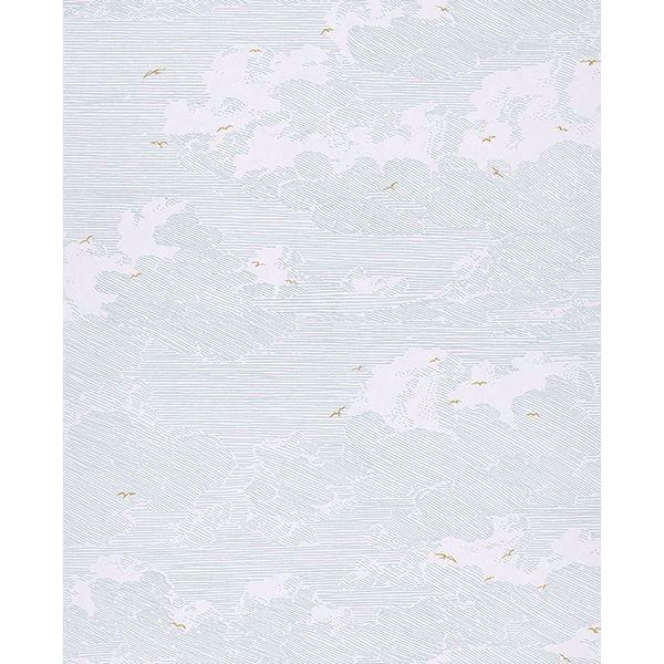 5,33£//1qm Non-Woven Wallpaper leaf retro white blue Palila AS Creation 36310-5