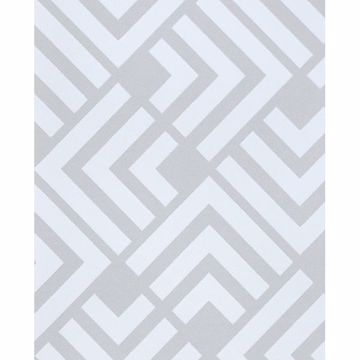 Picture of Zig Grey Geometric Wallpaper