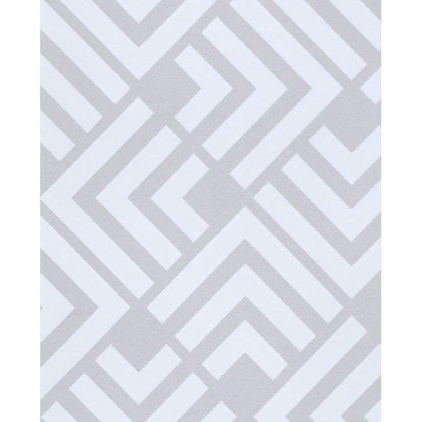 Picture of Zig Grey Geometric Wallpaper