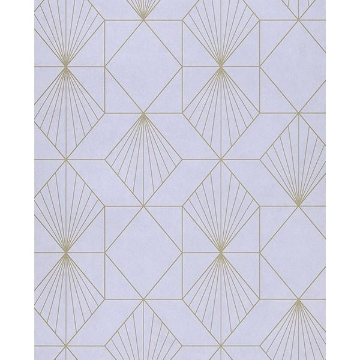 Picture of Halcyon Lilac Geometric Wallpaper