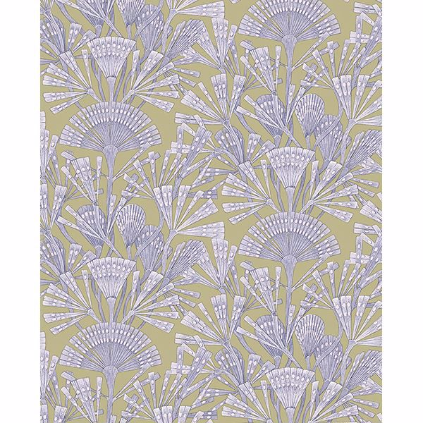 Picture of Zorah Lilac Botanical Wallpaper