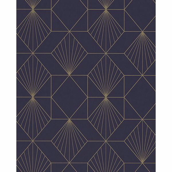 Picture of Halcyon Plum Geometric Wallpaper