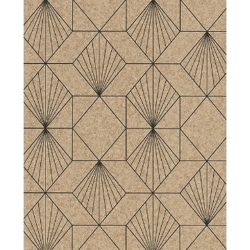 Picture of Halcyon Sand Geometric Wallpaper