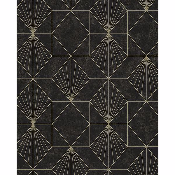 Picture of Halcyon Black Geometric Wallpaper