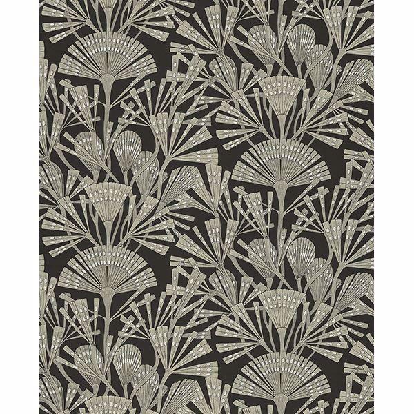 Picture of Zorah Black Botanical Wallpaper