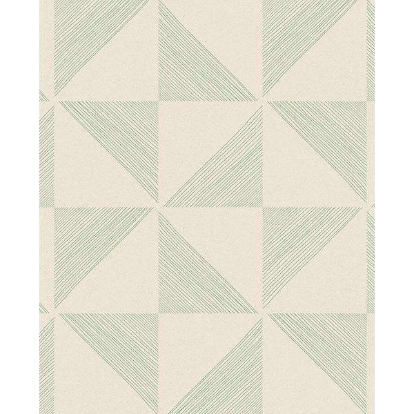 Picture of Mont Green Geometric Wallpaper