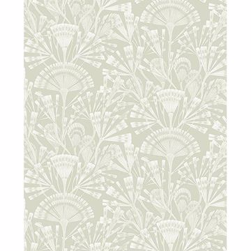 Picture of Zorah Mint Botanical Wallpaper