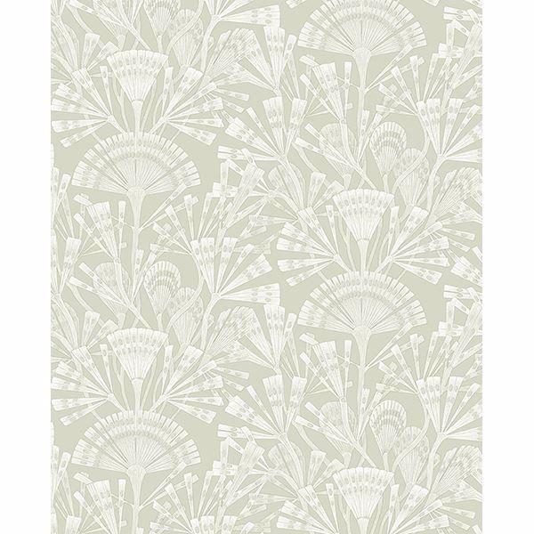Picture of Zorah Mint Botanical Wallpaper