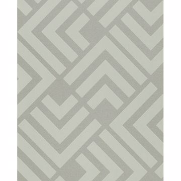 Picture of Zig Mint Geometric Wallpaper