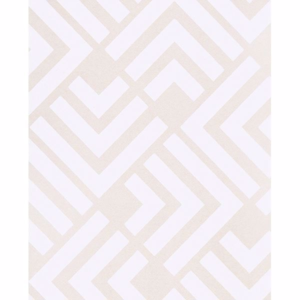 Picture of Zig Neutral Geometric Wallpaper