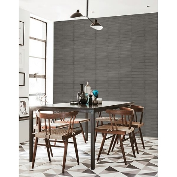 Picture of Midcentury Modern Dark Grey Brick Wallpaper
