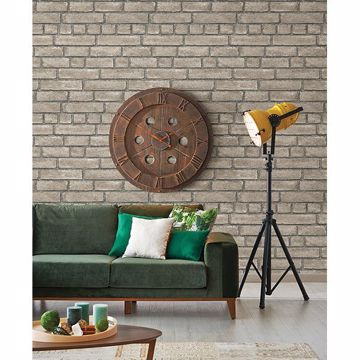 Picture of Façade Taupe Brick Wallpaper