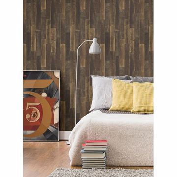 Picture of Antique Floorboards Brown Wood Wallpaper