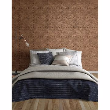 Picture of Otto Copper Hammered Metal Wallpaper