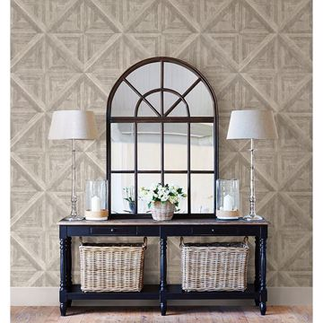 Picture of Carriage House Neutral Wood Wallpaper
