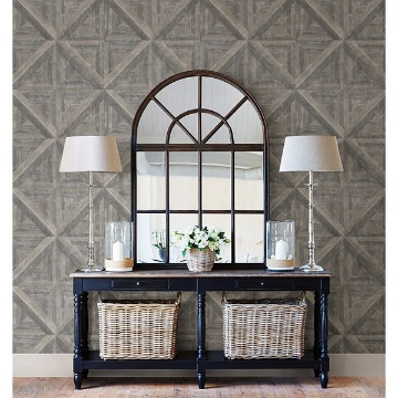Picture of Carriage House Taupe Wood Wallpaper