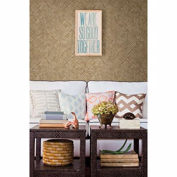 Picture of Labyrinth Gold Geometric Wallpaper
