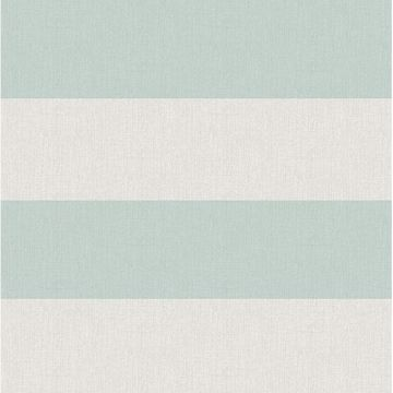 Picture of Awning Aqua Stripe Wallpaper