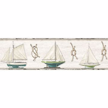 Picture of Set Sail Grey Boat Border