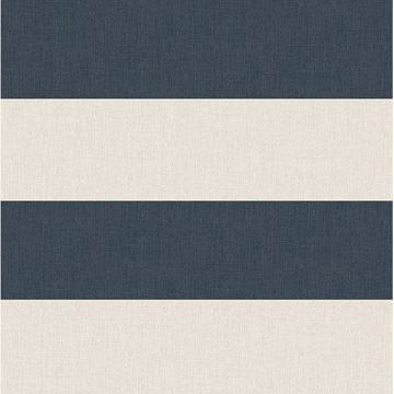 Picture of Awning Navy Stripe Wallpaper