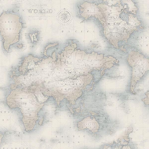 3113 47547 Mercator Blue World Map Wallpaper By Chesapeake