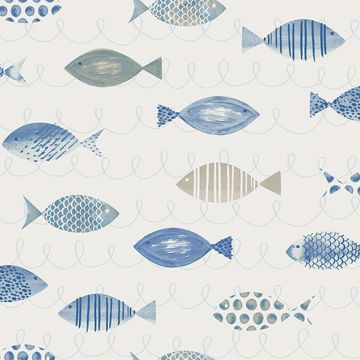 Picture of Key West Blue Fish Wallpaper