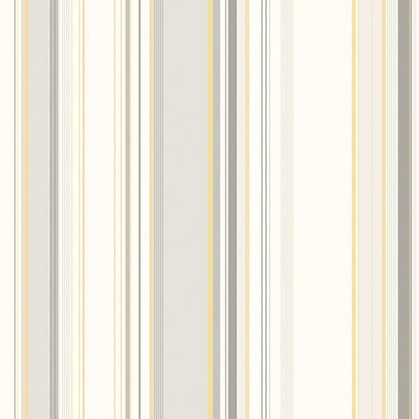 Picture of Cape Elizabeth Grey Stripe Wallpaper