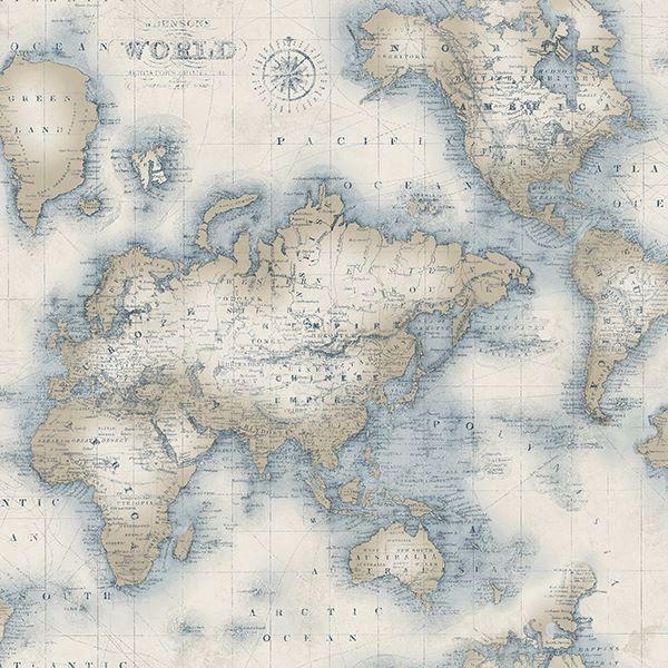 3113 47545 Mercator Cream World Map Wallpaper By Chesapeake