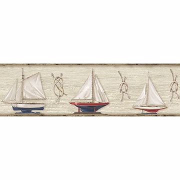 Picture of Set Sail Wheat Boat Border