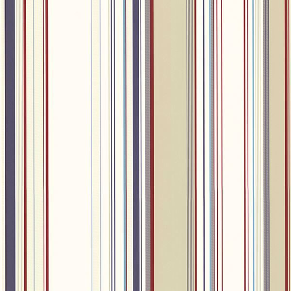 Picture of Cape Elizabeth Red Stripe Wallpaper