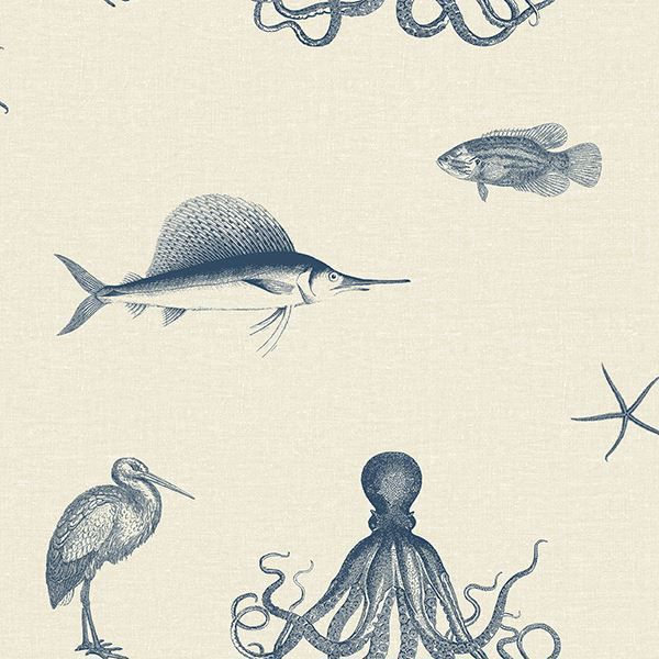 Picture of Oceania Taupe Sea Creature Wallpaper
