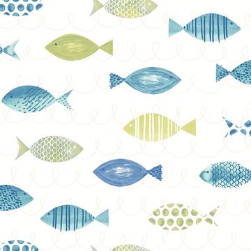 Picture of Key West Green Fish Wallpaper